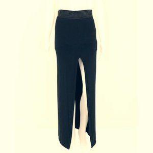 NWT - T by Alexander Wang long black jersey skirt